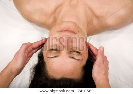 cheek and masseter massage