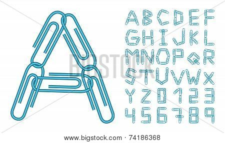 Letters And Numbers Blue Clips