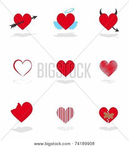 Set 9 Hearts Icons