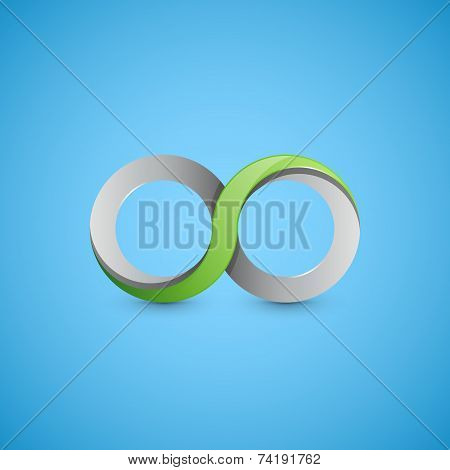 Infinity sign, graphic design