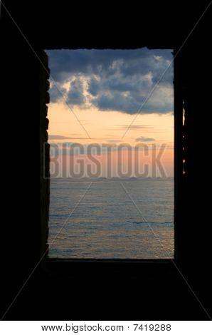 Fenster am Meer