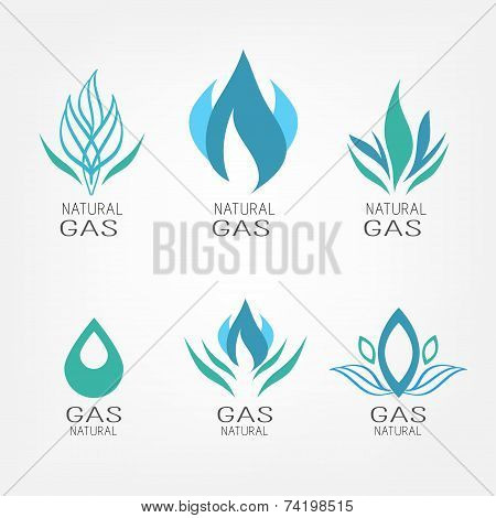 Set of gas icons