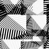 Black and white endless vector striped tiling, fashionable textured background. poster