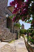Street at Omis, Croatia - architecture background poster