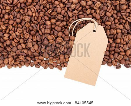 Coffee And Fag Isolated On White Background