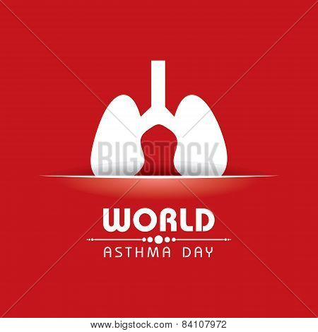 Creative World Asthma Day Greeting stock vector