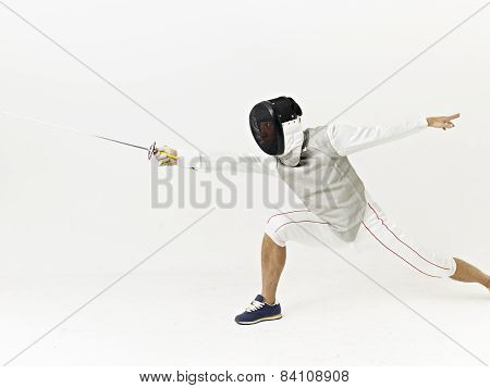 Fencer In Action