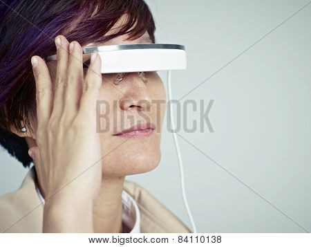 Woman With Wearable Device