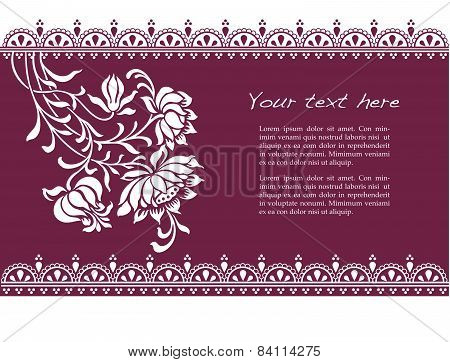 Purple floral henna banner