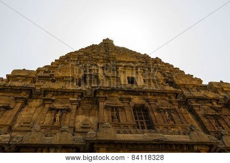 Magnificent chief tower or gopura of Brahadeewarar temple, Thanjavur