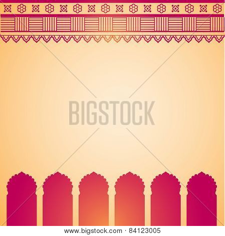 Pink and cream henna temple background