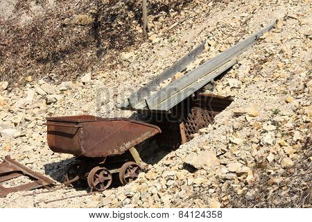 Transport trough in a mine called Hund poster