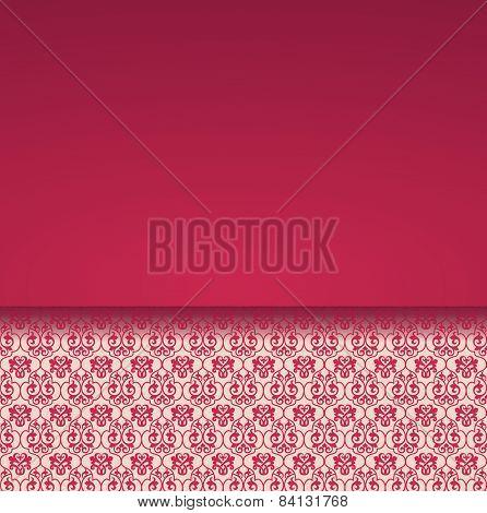 Classical red pattern card design