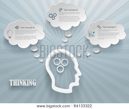 Thinking Options Infographic Background