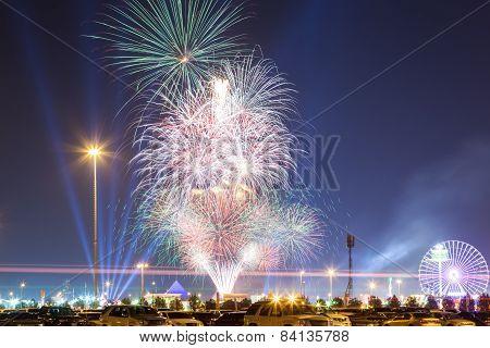 Fireworks At Dubai Global Village
