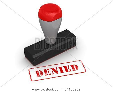 Rubber Stamp - Denied
