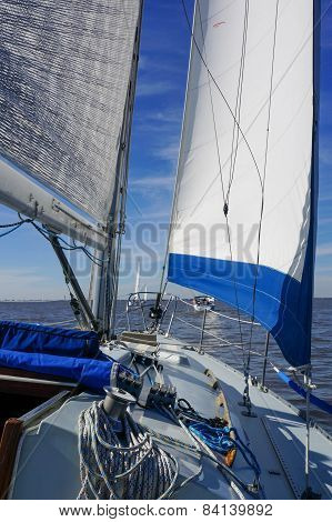 Blue Trimmed Sails