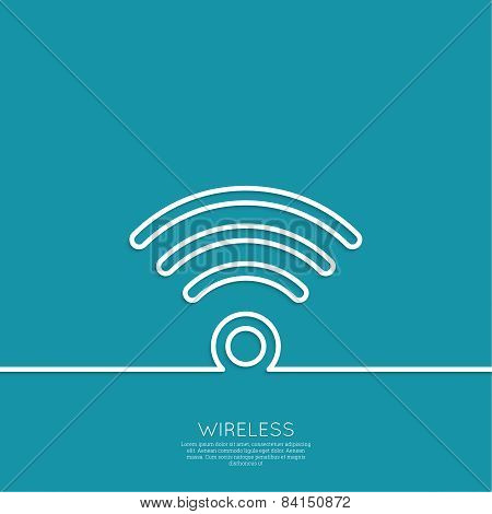 Vector wireless and wifi icons