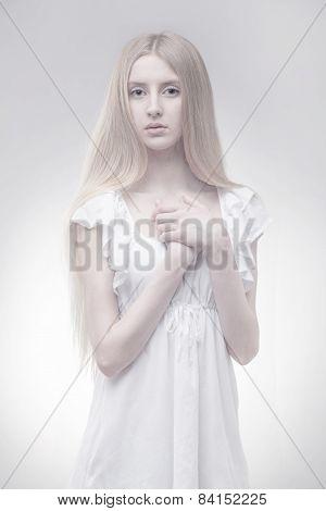 fairy girl in glowing light