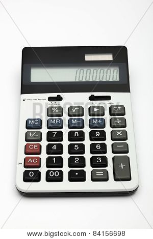 Two Way Powered Desck Calculator Shooted On White