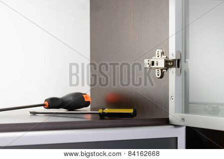 Screwdriver And Concealed Hinge