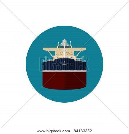 Icon tanker , vector illustration
