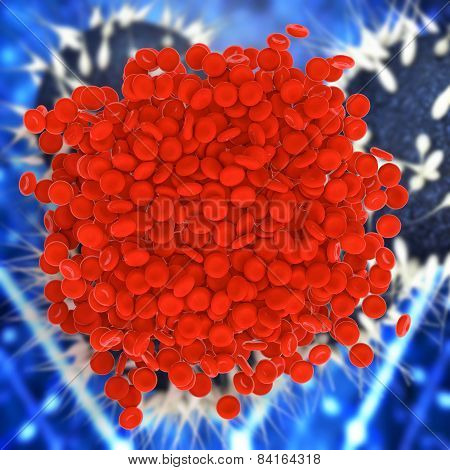 Blood Clot - 3D Rendered Illustration