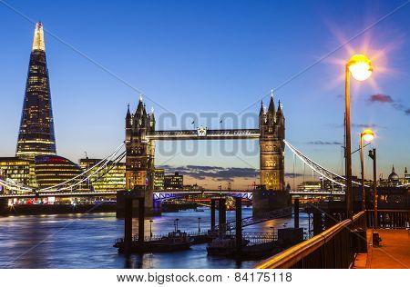 London View At Dusk