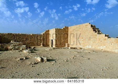 Ruins Of Avdat - Ancient Town Founded And Inhabited By Nabataeans In  Negev  Desert