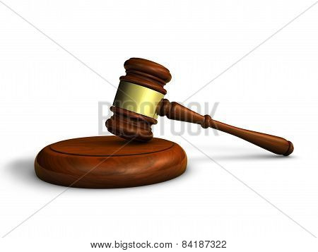 Gavel Law And Justice Symbol