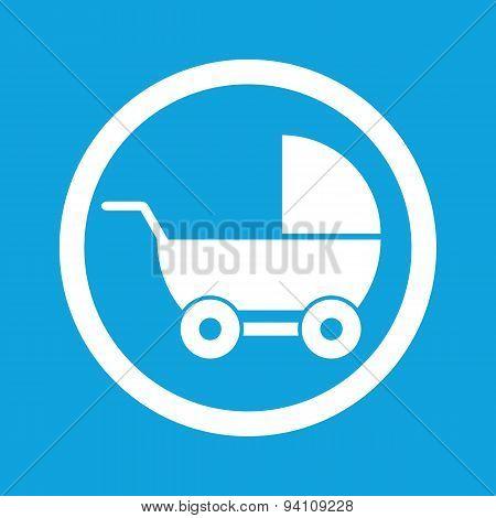 Pram sign icon