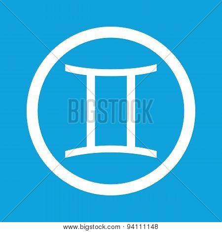 Gemini sign icon