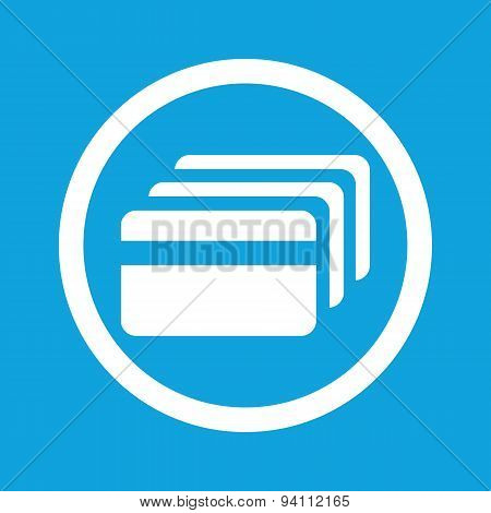 Credit card sign icon