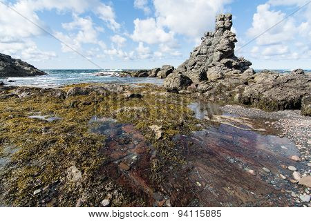 Natural rock formations in Gros Morne National Park in Newfoundland and Labrador