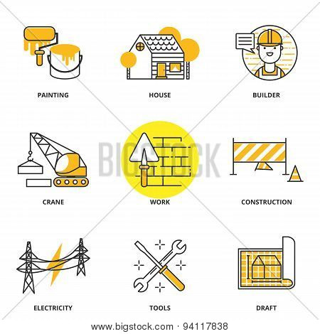 Construction Vector Icons Set