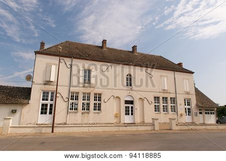 Town hall in French village Lays sur le doubs