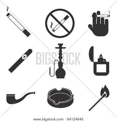 Vector smoking icons set