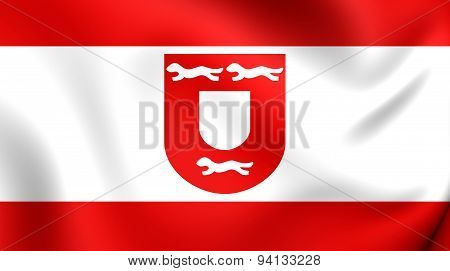 Flag Of The Wesel City, Germany.