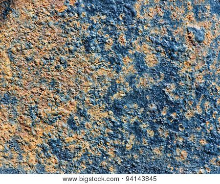 Texture Of Rusty Metal With Old Cracked Paint