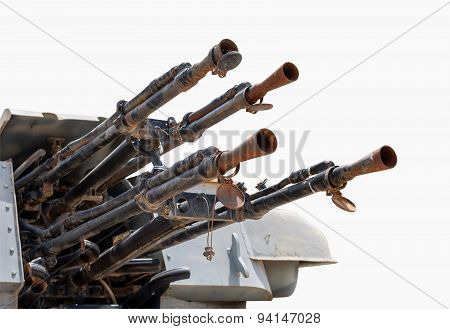 Anti-air Weapon System. Isolated With Clipping Path