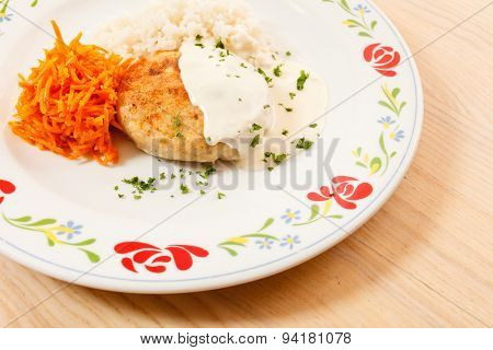 rice with cutlet