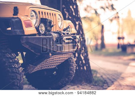 Off Road Vehicle Closeup