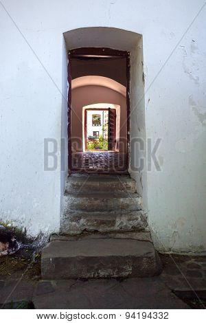 Doorway Connecting The Courtyards Of  Cozia Monastery