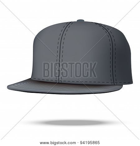 Layout of Male black rap cap. Vector illustration