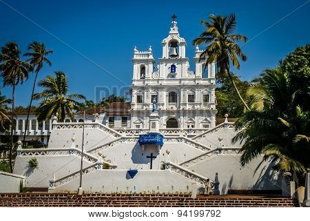 Beautiful Church of Our Lady of the Immaculate Conception, Panaji, Goa, India