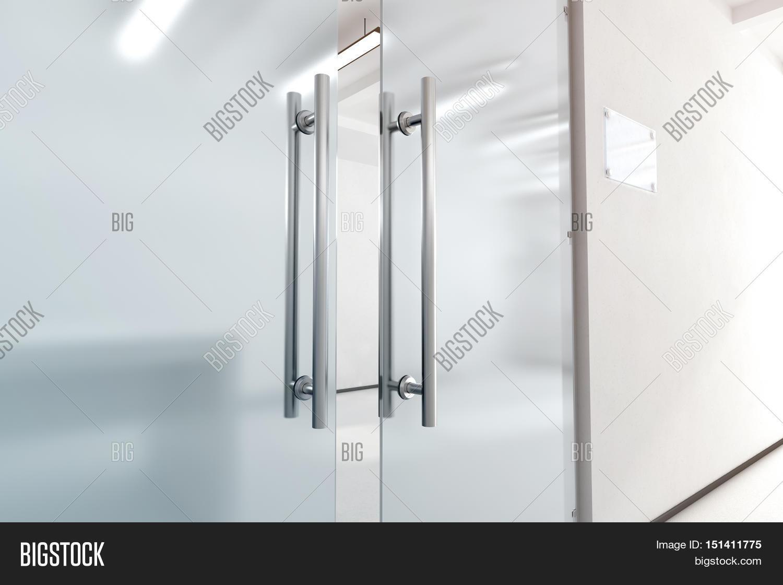 Blank Glass Door Metal Image Photo Free Trial Bigstock