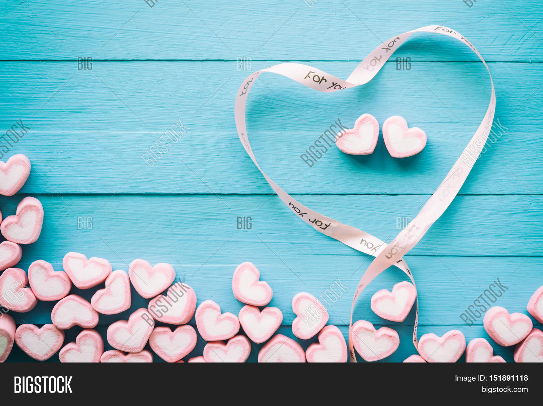 Pink Heart Shape Image Photo Free Trial Bigstock