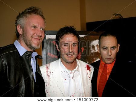 Chris Nelson, David Arquette and Paul Reubens at the Los Angeles premiere of 'The Tripper' held at the Mann's Chinese 6 in Hollywood, USA on October 13, 2006.