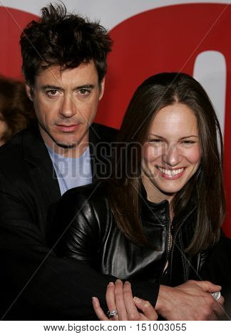 Robert Downey Jr. and Susan Downey at the World premiere of 'The Shaggy Dog' held at the El Capitan Theatre in Hollywood, USA on March 7, 2006.