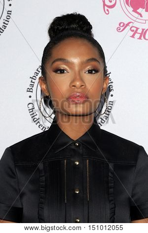 LOS ANGELES - OCT 8:  Yara Shahidi at the 2016 Carousel Of Hope Ball at the Beverly Hilton Hotel on October 8, 2016 in Beverly Hills, CA